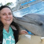 Dolphin Kisses at Pet Porpoise Pool Coffs Harbour