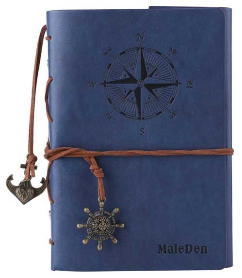Leather Journal - Vintage Refillable Travel Diary